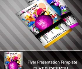 Set of Flyer presentation template design vector 05