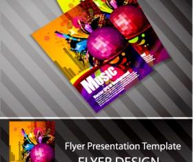 Set of Flyer presentation template design vector 01