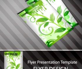 Set of Flyer presentation template design vector 02