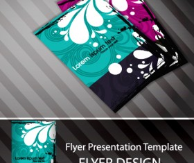 Set of Flyer presentation template design vector 03