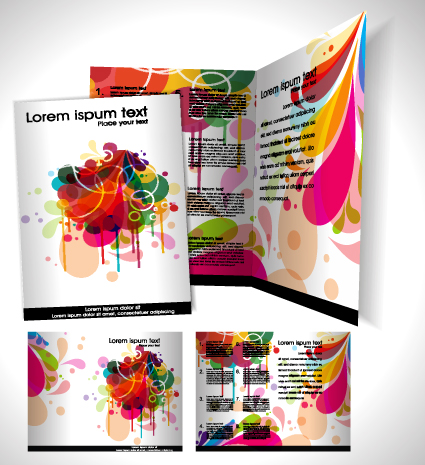 book and Folder cover design vector graphics 03