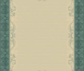Set of Diploma Certificate Frame design vector 02