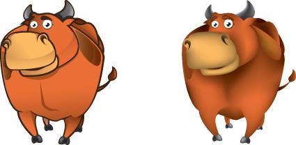 Set of Amusing animals elements vector 01