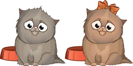 Set of Amusing animals elements vector 04