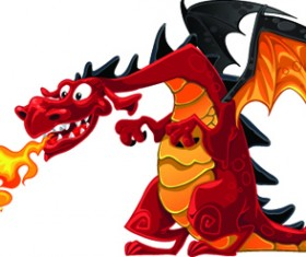 Set of Funny dragon design elements vector graphics 01