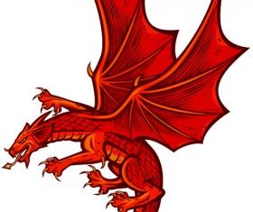 Set of Funny dragon design elements vector graphics 04