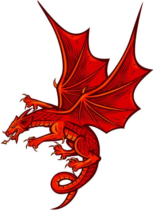 Dragon Graphic Design Set of Funny Dragon Design
