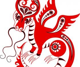 Set of Funny dragon design elements vector graphics 05