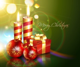Set of Halation Christmas background art vector graphic 02