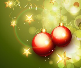Set of Halation Christmas background art vector graphic 03
