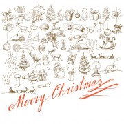 Link toHand drawn retro merry christmas accessories vector art 03