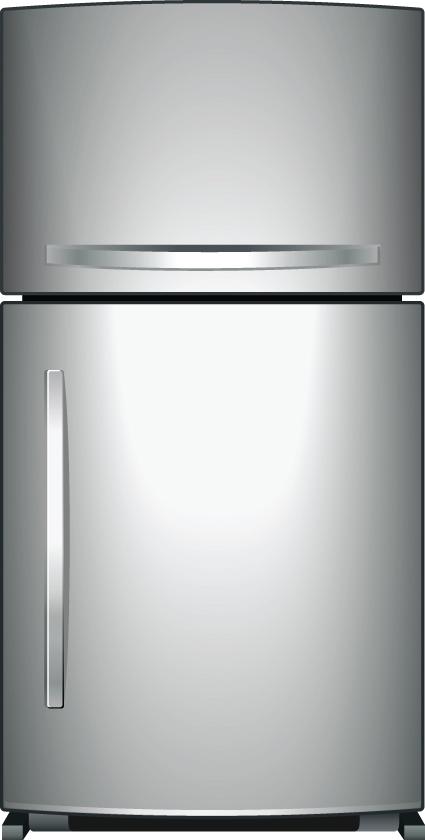 Set of Home appliances Refrigerator design vector 03 - Free Vector ...