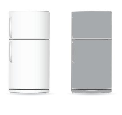 Set of home appliances refrigerator design vector 04 for Household refrigerator design