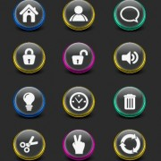 Link toCreative web icon buttons design vector 03