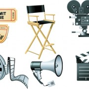 Link toVector set of icons 3d movies elements 01