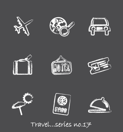 Vector icons sketch in pencil design elements 04