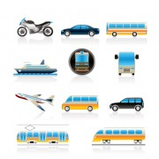 Link toDifferent transport icon design vector set 04
