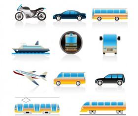 Different transport icon design vector set 04