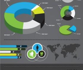 Infographics with Economy elements vector graphics 01