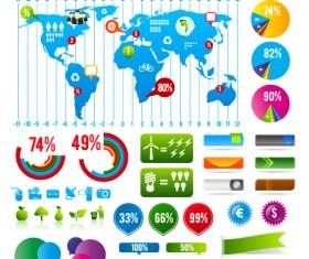 Infographics with Economy elements vector graphics 02