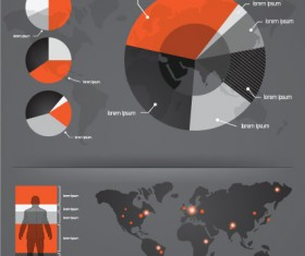 Infographics with Economy elements vector graphics 03