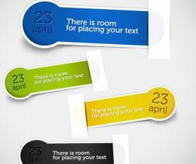 Set of different Information sticker vector 02