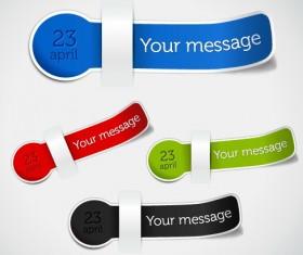Set of different Information sticker vector 03