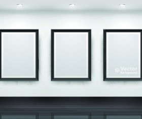 Vector of Interior Gallery backgrounds set 01