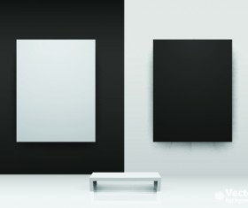 Vector of Interior Gallery backgrounds set 04