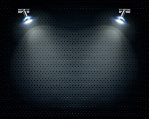Object lighting floodlight effect design vector free download