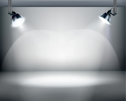 Object lighting floodlight effect design vector u over millions