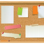 Link toSet of message board with message paper vector 01