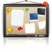 Link toSet of message board with message paper vector 02