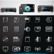 Link toVector set of modern appliances hd icons 01