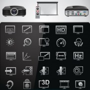 Link toVector set of modern appliances hd icons 02