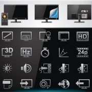 Link toVector set of modern appliances hd icons 03