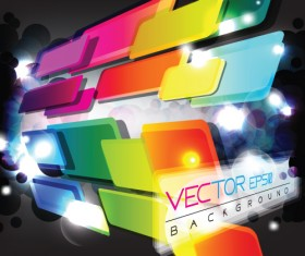Multicolor Geometry elements backgrounds vector 02
