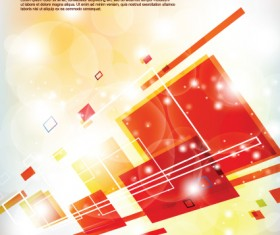 Multicolor Geometry elements backgrounds vector 03