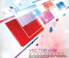 Multicolor Geometry elements backgrounds vector 04