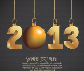 Vector set of Creative New Year 2013 design elements 01