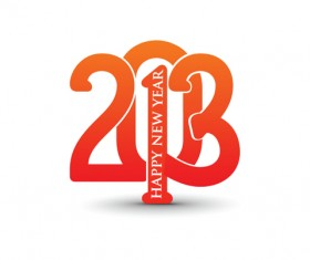 Vector set of Creative New Year 2013 design elements 02