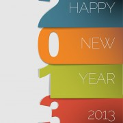 Link toVector set of creative new year 2013 design elements 03