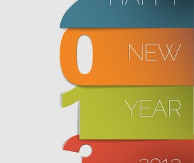 Vector set of Creative New Year 2013 design elements 03