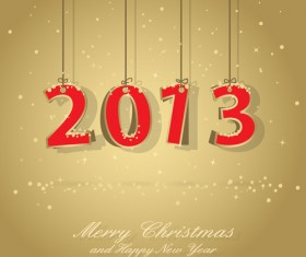 Vector set of Creative New Year 2013 design elements 04