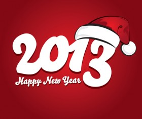 Vector set of Creative New Year 2013 design elements 05