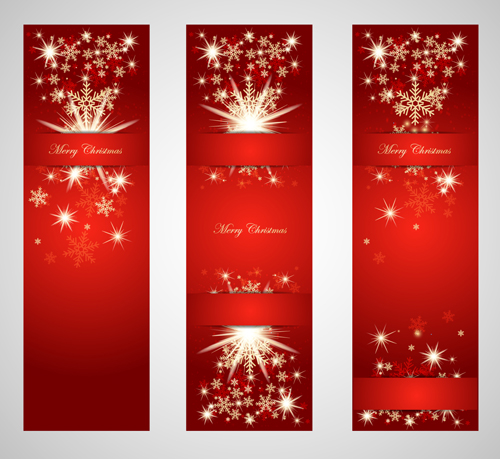 Ornate Red Christmas Backgrounds vector material 03