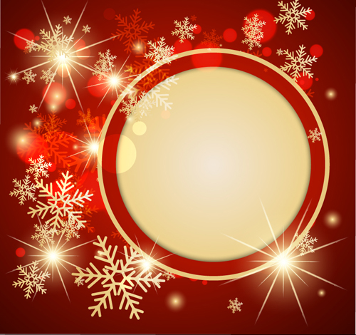 Ornate Red Christmas Backgrounds vector material 04