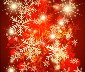 Ornate Red Christmas Backgrounds vector material 05
