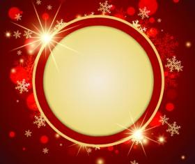 Ornate Red Christmas Backgrounds vector material 06