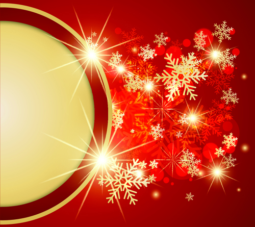 Ornate Red Christmas Backgrounds vector material 07